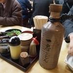 釜揚うどん一忠 - お酒が入ってる徳利ではない(www