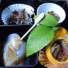 カントリーレストラン 渓流荘 - 料理写真:前菜(鹿の刺身は生姜醤油で)♪