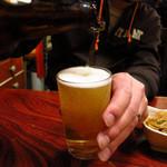 そと川 - ラガービール(大)600円