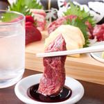 勝馬 - メニュー写真:甘辛い九州醤油で