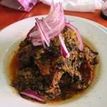 エコ ロロニョン - 2013年2月20日お食事会 「ボマニャニャ」(小松菜とグシの魚介スープ)