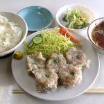 万福 - 万福 @本蓮沼 シューマイ定食(半ライス) 700円