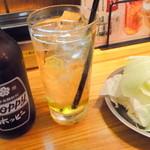 くし家串猿 - 【2013年2月】ホッピー白&お通しキャベツ!