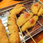 くし家串猿 - 【2013年2月】追加串かつは鶏ささみ、タラの芽、ミョウガ梅肉タレ!