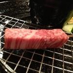 くら羅 - 牛肉。(揚げる前)