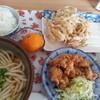 茶みせ 山ちゃん - 料理写真:うどん定食500円+ごぼ天100円