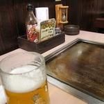 風月・風の街 - 生ビールと鉄板