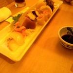 鮨とおつまみ 百万遍 つむぎ - 鮨とおつまみ 百万遍 つむぎ のお造り盛合せ(12.07)