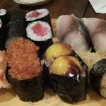 鮨とおつまみ 百万遍 つむぎ - 鮨とおつまみ 百万遍 つむぎのにぎり単品盛り(12.04)