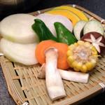 肉匠迎賓館 - 焼き野菜盛り合わせ580円