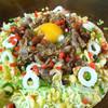 のむら食堂 - 料理写真:京都のお好み焼き「べた焼き」(700円~)。写真は「すき焼き牛入りべた焼き」(1050円)