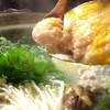 番屋 - 料理写真:博多水炊きつみれ鍋 つみれを入れています。