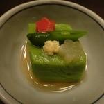 江戸肉割烹 ささや - 鶯豆腐