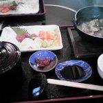 ちゃんこ一番 - 刺身定食(三種盛り)