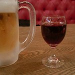 CAFE RIGOLETTO - ランチセットBに付く小ワイン