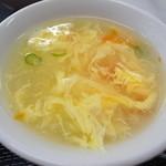 豊華 - 定食のスープ