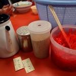 元祖長浜屋 - ラーメンのトッピング