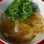 道久製麺所 - かけうどん(お出汁は柚子作成のいりこ出汁)