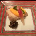 雲海 - 【春の祝い会席】焼物 鰆菜種焼き 蕗伽羅煮。