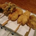 浮かれ海老 - 肉魚貝串揚げ