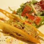 ラシェリール - 秋サバとオニオンのサラダ仕立て パルミジャーノの香り