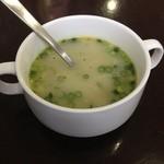 カトマンドゥカリーPUJA - ランチに付いてるカリースープ。