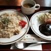 ガニメデ - 料理写真:ピラフ&ハンバーグ(日替わり)780円♪
