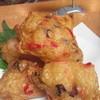 梅原水産 - 料理写真:オススメは特製すり身天!写真はタコ生姜天1人前380円!12種類の中で1番人気は大葉チーズ天です!