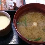 北海道 - 「おまかせランチ」 ボリューム満点の味噌汁