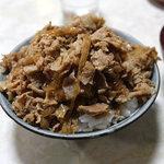 お食事 ライフ - 肉丼「小盛」、500円。それでも吉野家より多い……。