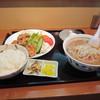 栄太呂 - 料理写真:具沢山の豚汁定食に唐揚げで¥680也 ボリューム満点。