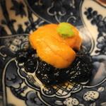 日本料理 木の花 - 羅臼海胆と岩のり