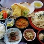 たんぽぽ - 【日替ランチ】白飯・天ざるうどんセット(600円)