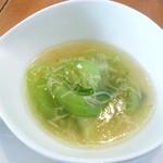 17792508 - チンゲン菜と細ぎり湯葉の塩味煮