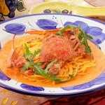 タパス&タパス - ワタリガニのトマトクリームスパゲティ