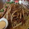 はせ家 - 料理写真:1)鉄板スパゲッティ・特製ミートソース大盛り