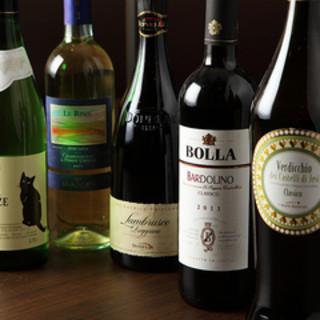 こだわりのワインは30種類以上