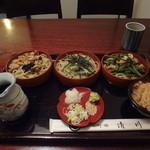 清川 そば店 - (2013春)三味そば、ご飯もついて840円