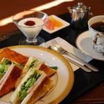 みやび珈琲 - 料理写真:ホットサンド(モーニング)