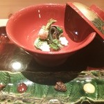 御料理 まつ山 - 料理写真:春野菜のおひたし、5種のソースと共に