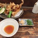 海鮮食堂 すいか - (2013/3/13)骨まで食べられる「かれいの唐揚げ」。カリカリの食感が最高!!!