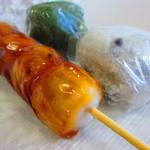 もみぢ菓子司舗 - 豆大福餅 @¥160−くさ餅 @¥160−みたらし団子 @¥120−