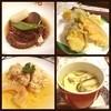 北山 - 料理写真:イイダコのの煮つけ☆白身魚と野菜の天ぷら☆タラの子の煮浸し☆海と山の茶碗蒸し☆  ○イイダコ やわらかくて、やさしい味つけです。 ○天ぷら ナス、カボチャ、大葉、そして白身の魚。 残念ながら何の魚かわかりませんm(_ _)m 生姜たっぷりの天ぷらツユを付けていただきます。  ○タラ めっちゃイイですd(^_^o) 出汁がしっかりとしみこんでいます。  ○茶碗蒸し 干し椎茸の出汁⁇がいい感じです☆