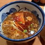17883344 - 辛ねぎつけ麺(¥ 750)のつけ汁【 2013.03.08 】