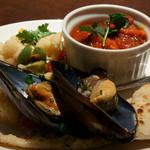 ピッツェリア パージナ - 1)前菜の盛り合わせ1(とピッツァ その1)