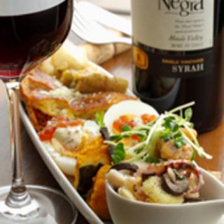 美味しい時間が幸せの時間。絶品メニューとワインで満喫
