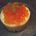 旬鮮炭火焼 獺祭 - イクラ、スモークサーモンのポテトサラダ