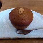 カフェ カッパー キャット - くるみとクリームチーズ入りパンプキンマフィン