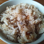 旬鮮炭火焼 獺祭 - テイクアウトした土鍋焼き鯖炊き込みご飯。家族にも大好評でした。