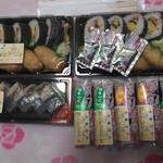 小僧寿し - 料理写真:巻き寿司、いなり寿司。それに、バッテラと手巻き寿司を買ってみました~。